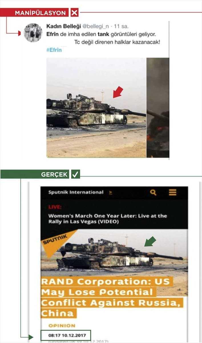 Zeytin Dalı Harekatı'na sosyal medyadan başlatılan karalama kampanyası devam ediyor