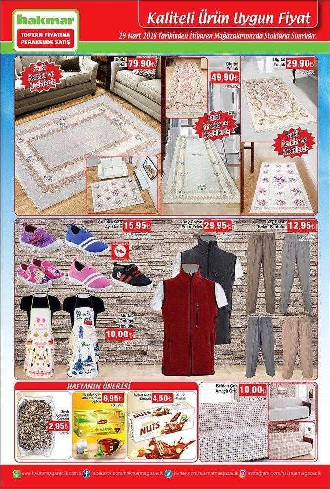 Hakmar 29 Mart 2018 Aktüel Ürünler Kataloğu Ev Tekstili ve Giyimde Büyük Kampanya