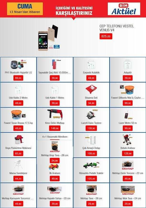 Bim 13 – 19 Nisan 2018 Aktüel Ürünler Kataloğu Elektronik Ürünlerde Büyük Kampanya ile Yayınlandı