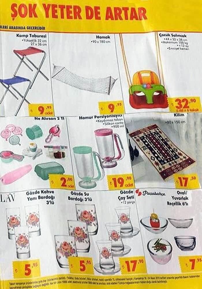 Şok Market 18 - 24 Nisan 2018 Aktüel Ürünler Kataloğu