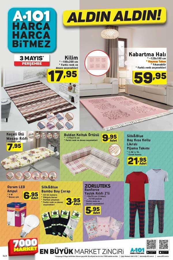 A101 3 Mayıs 2018 Aktüel Ürünler Kataloğu Çamaşır Makinesi Kampanyası ile Yayında