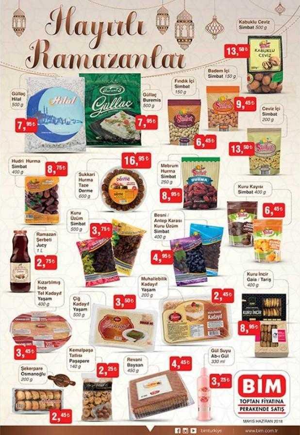 Bim Market Ramazan Ayı Boyunca Geçerli Olacak Aktüel Ürünler Kataloğunu Yayınladı