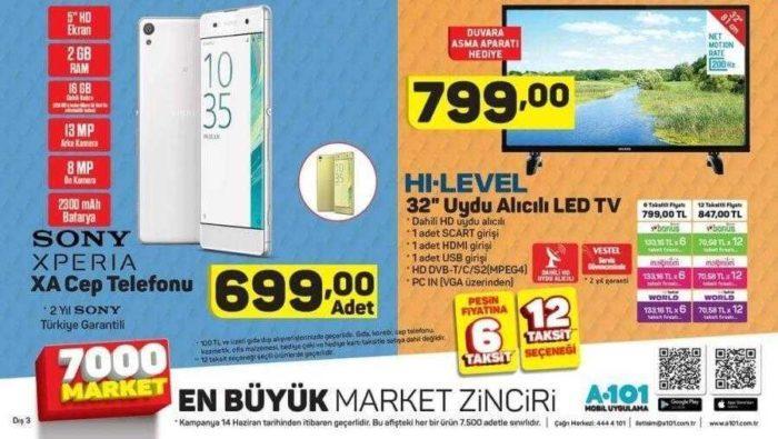 A101 14 Haziran Kataloğunda Uygun Fiyata Sony Xperia Xa Satacak