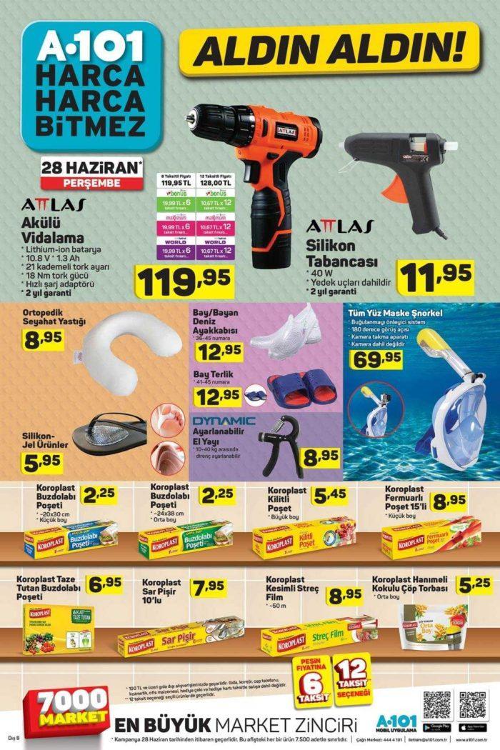 """A101 28 Haziran 2018 Aktüel Ürünler Kataloğu """"Aldın Aldın"""" Kampanyası Yayınlandı"""