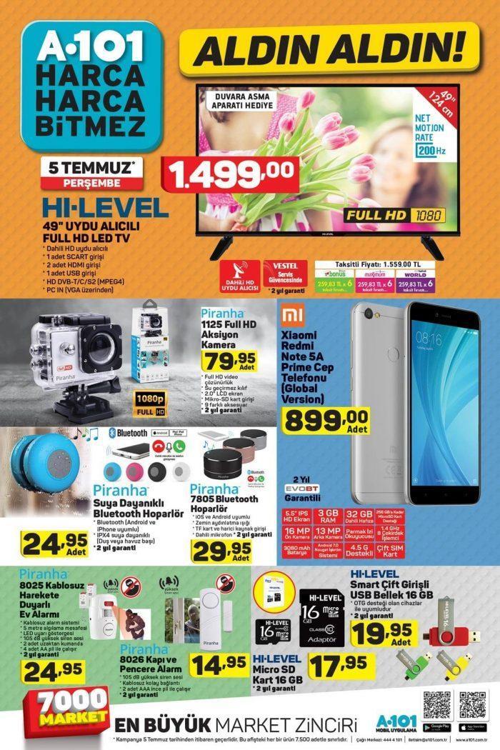A101 5-12 Temmuz 2018 Aldın Aldın Aktüel Ürünler Kataloğu