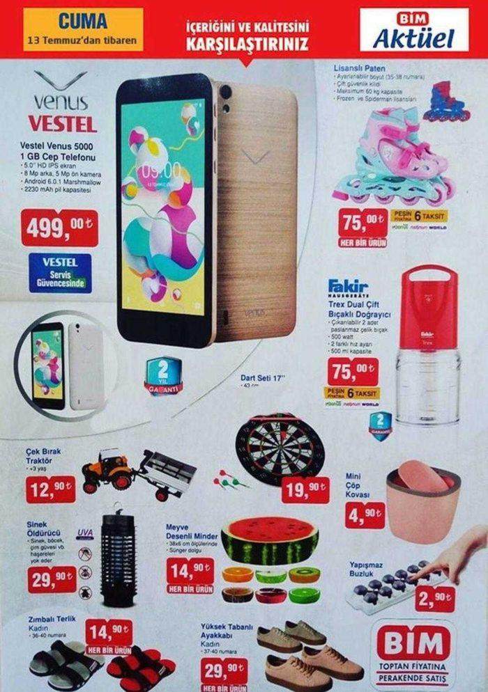 Bim Aktüel ile Vestel Venüs Akıllı Telefon 500 TL'nin Altında Satışa Sunulacak