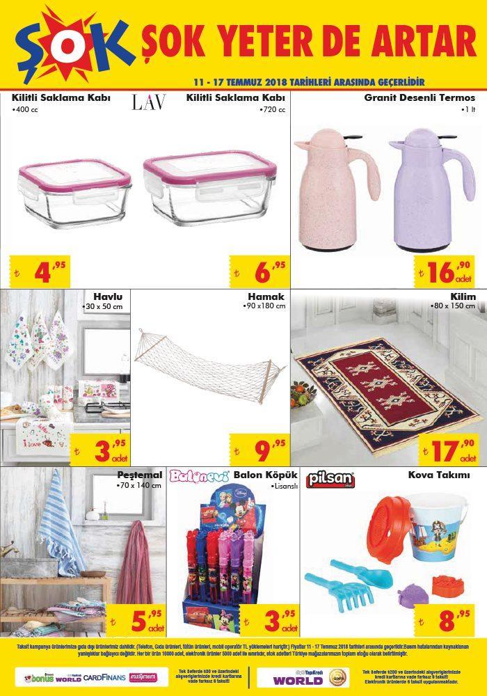 Şok Market 11 Temmuz 2018 Aktüel Ürünler Kataloğu