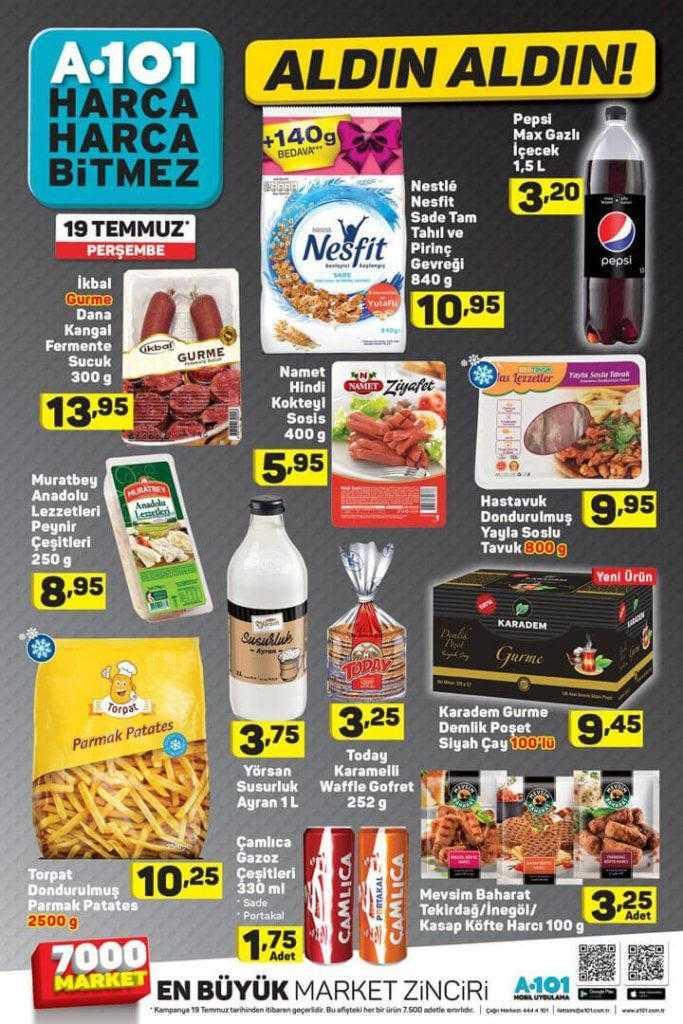 A101 19 – 25 Temmuz 2018 Aktüel Ürünler Kataloğu ile Bu Haftanın Kampanyalı Ürünleri