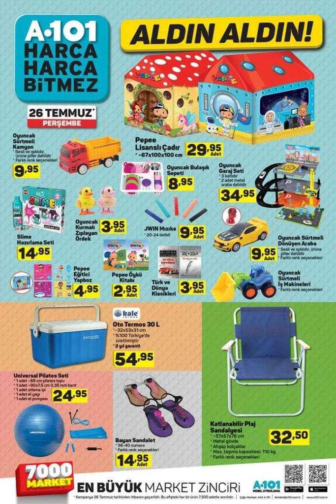 A101 26 Temmuz - 1 Ağustos Aktüel Ürünler Kataloğu ile Haftanın İndirim Kampanyası
