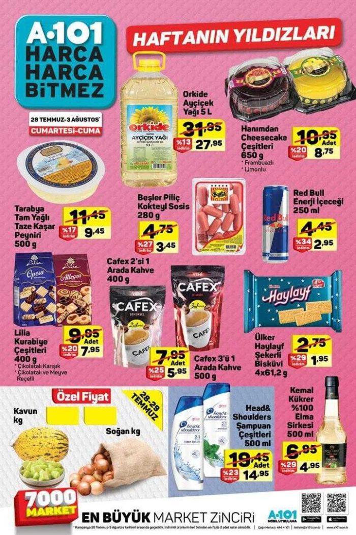 A101 28 Temmuz 2018 Aktüel Ürünler Kataloğu Hafta Sonu Özel Kampanyası