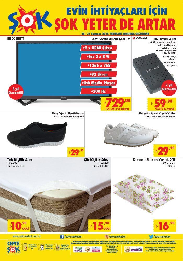 ŞOK 28 - 31 Temmuz Aktüel Ürünler Kataloğu Bu Haftanın İndirimli Ürünler Listesi