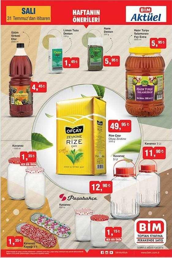 Bim 31 - Temmuz 3 Ağustos Aktüel Kataloğu İndirimli Ürünler Listesi