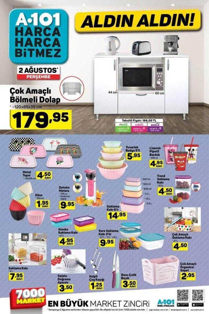 A101 2-6 Ağustos Aktüel Ürünler Kataloğu Yayınlandı! A101'de bu hafta neler indirimde?