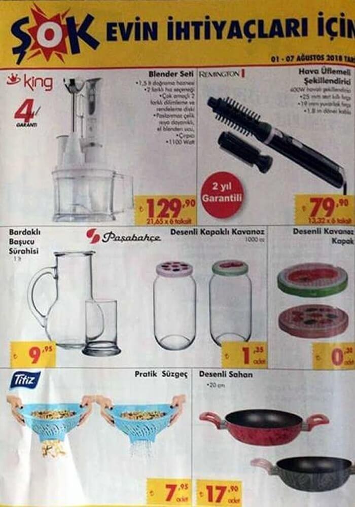 Şok Market 8 Ağustos Aktüel Ürünler Kataloğu Yayınlandı