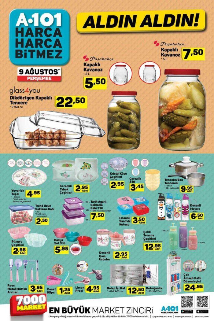 A101 9 Ağustos 2018 Aktüel Ürünler Kataloğu Yayınlandı