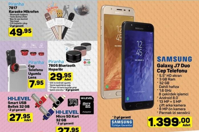 A101 16 Ağustos Aktüel Kataloğunda Samsung Galaxy J7 Duo Cep Telefonu Satacağını Duyurdu