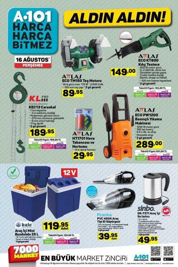 A101 16 Ağustos Aktüel Ürünler Kataloğu Yayınlandı! A101'de bu hafta neler indirimde?