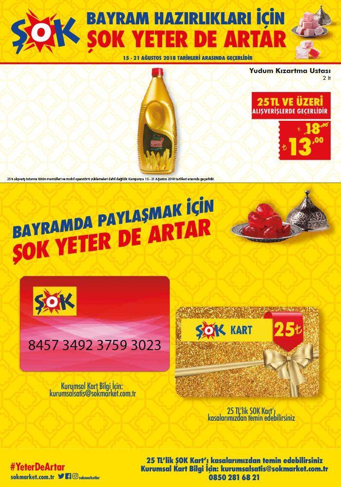 Şok Market 15-21 Ağustos Aktüel Ürünler Kataloğu! Şok'ta bu hafta neler var?