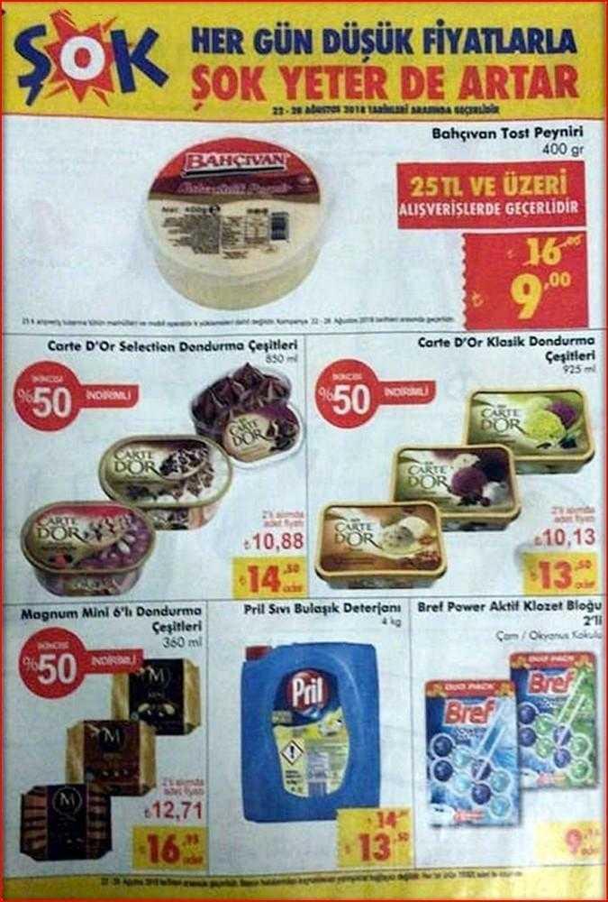 Şok Market (22 Ağustos 2018) Aktüel Ürünler Kataloğu! Şok'ta bu hafta neler var?