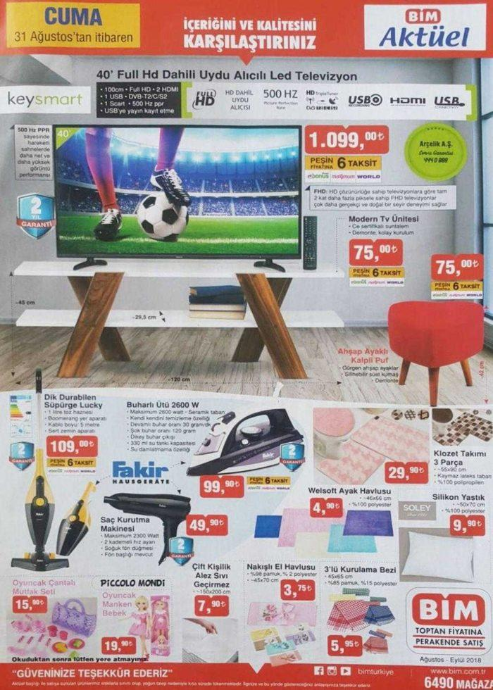 Bim Aktüel Kataloğu ile Keysmart Ful HD TV Uygun Fiyata Geliyor