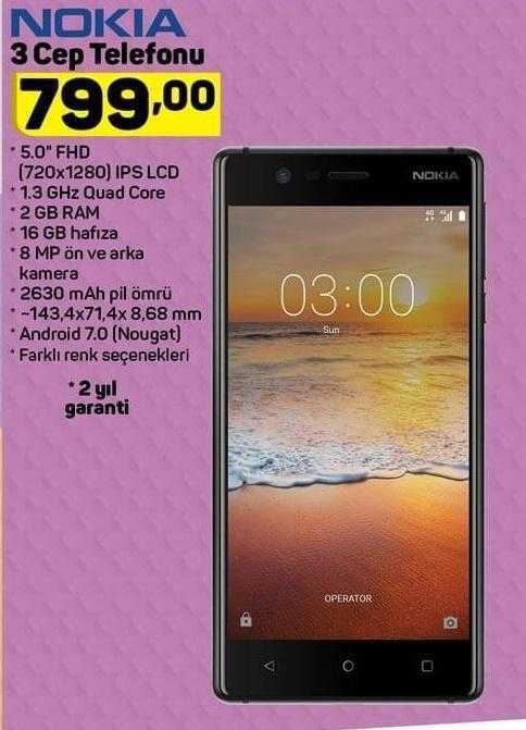 A101 Aktüel ile Nokia 3 Akıllı Telefon ve Teknoloji Ürünlerinde Kampanya