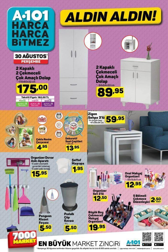 A101 Aktüel 30 Ağustos - 5 Eylül Aktüel Ürünler Kataloğu