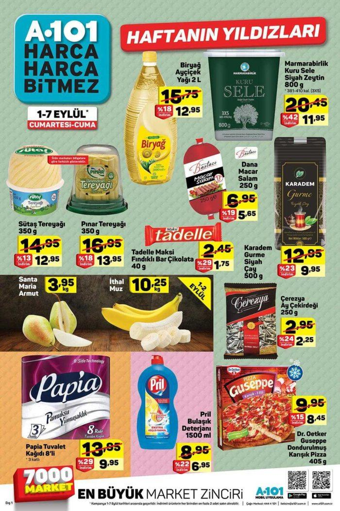 A101 1 - 7 Eylül Aktüel Ürünler Kataloğu ile Haftanın Yıldızları Yayınlandı