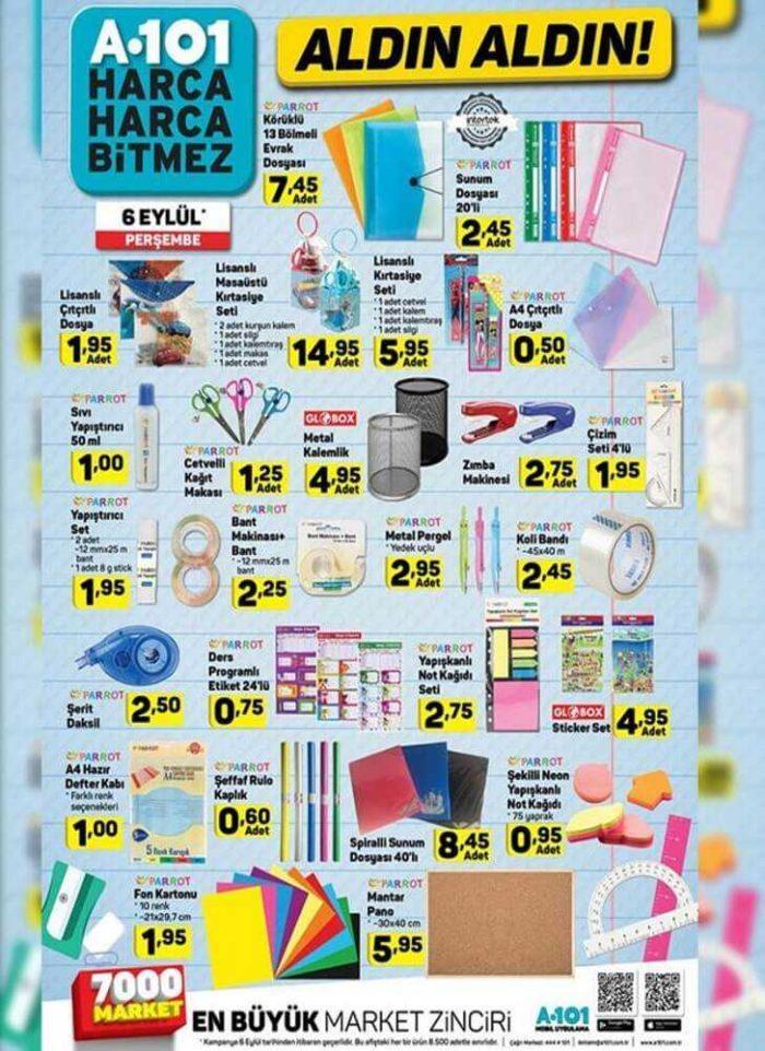 A101 Aktüel Kataloğu Okul Malzemeleri ve Kırtasiye Ürünleri
