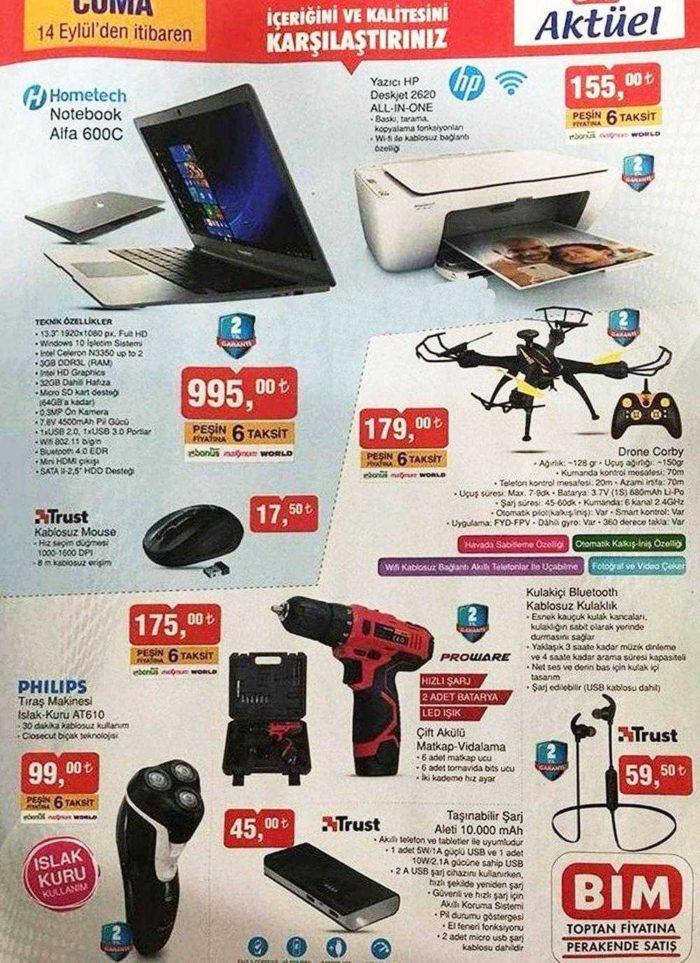 BİM Aktüel Yeni Kataloğunda Uygun Fiyata Hometech Notebook Satışı Yapacak