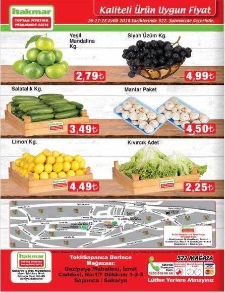 Hakmar Aktüel (26 - 28 Eylül) Kataloğu - Hakmar Marketin Bu Haftaki İndirimli Ürünleri