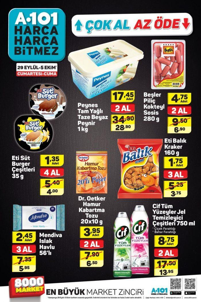 A101 (29 Eylül - 5 Ekim) Aktüel Ürünler Kataloğu! Hafta Sonu A101 Markette Hangi Ürünler İndirimli