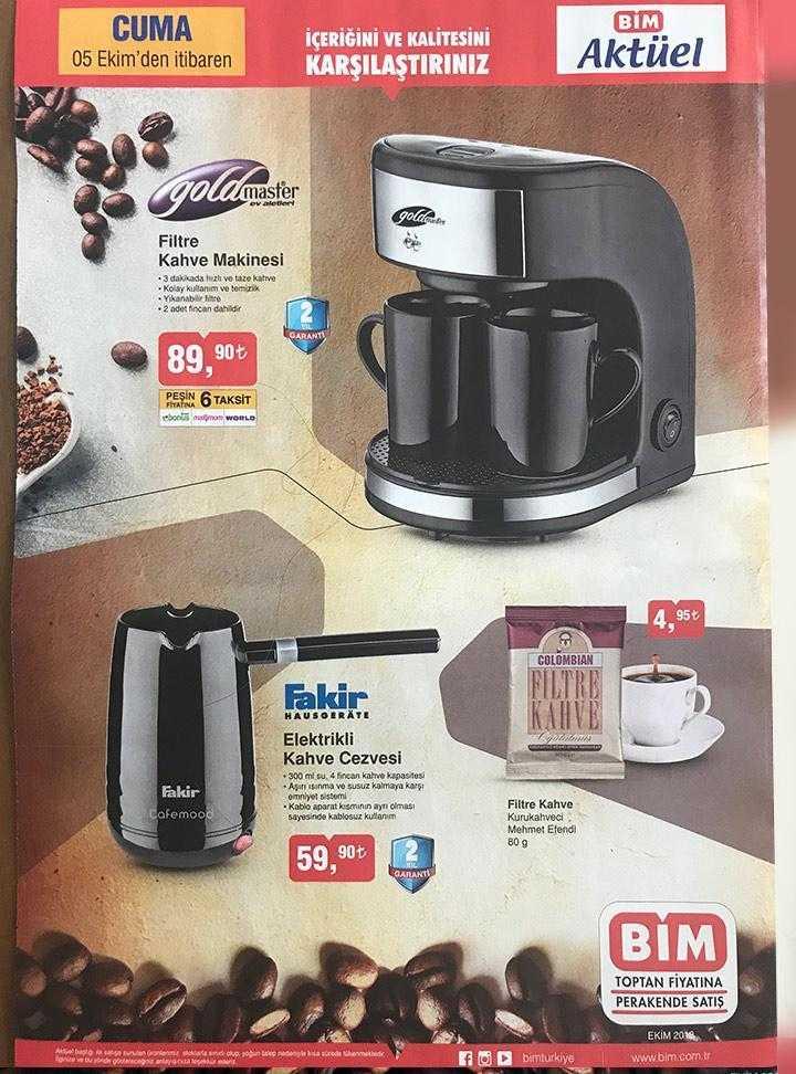 BİM Aktüel Kataloğu ile Fakir Filtre Kahvesi ve Elektirikli Ev Ürünleri Çok Uygun Fiyata Geliyor