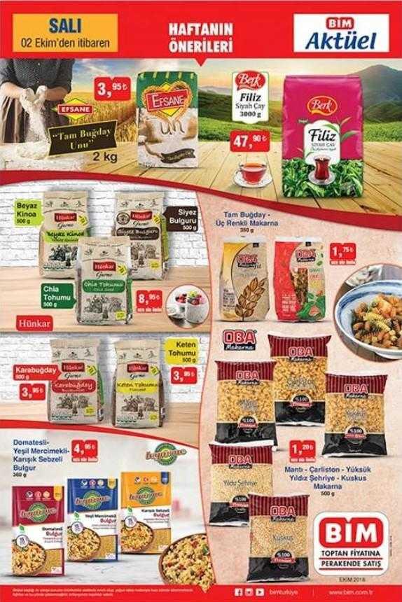 BİM 2 Ekim - 5 Ekim Aktüel Ürünler Kataloğu ile Markete Gelen Fırsat Ürünleri
