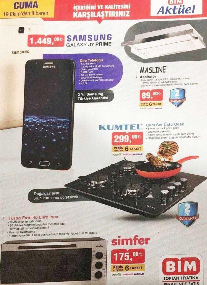 BİM Aktüel Kataloğunda Samsung Cep Telefonu Kampanyası