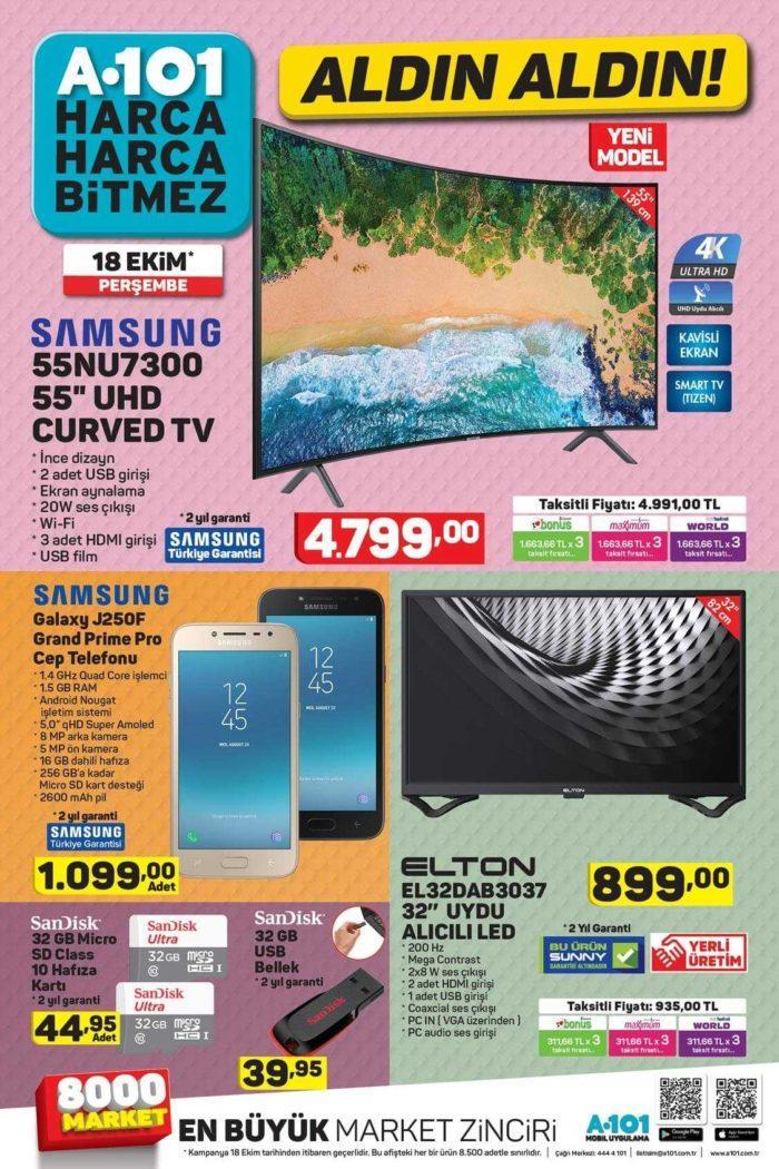 A101 18 Ekim Samsung Galaxy J250F Grand Prime Pro Cep Telefonu Satacak!