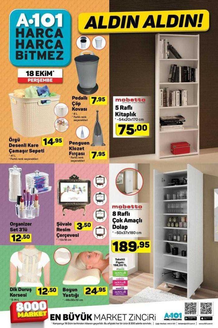 A101 Aktüel (18 - 24 Ekim 2018) Kataloğu ile Gelen İndirimli Ürünler! A101 Aktüel Listesi ile Hangi Ürünler İndirimde?