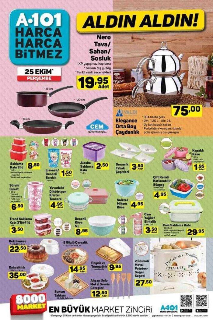 A101 25 Ekim 2018 Aktüel Ürünler Kataloğu! A101 Güncel Aktüel Ürünler Listesi