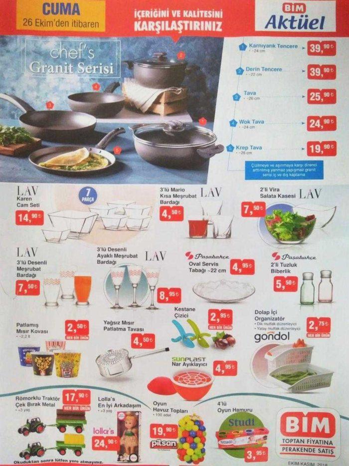 BİM 26 Ekim - 2 Kasım Aktüel Ürünler Kataloğu - BİM Aktüel Listesi ile Muhteşem Fırsat Ürünleri Geliyor