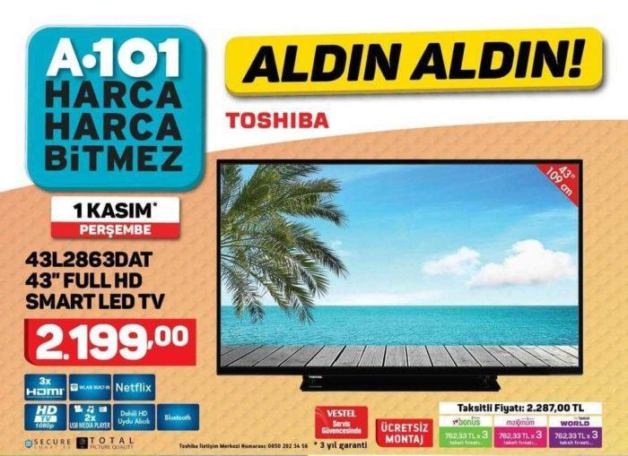 A101 Aktüel 1 Kasım Kataloğunda Uygun Fiyatlı Televizyon ve Elektrikli Süpürge Satışı Yapacak