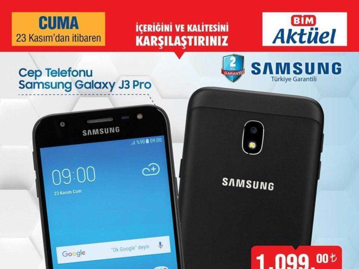 BİM Aktüel 23 Kasım 2018 Kataloğunda Uygun Fiyatlı Samsung Akıllı Telefon Satacak