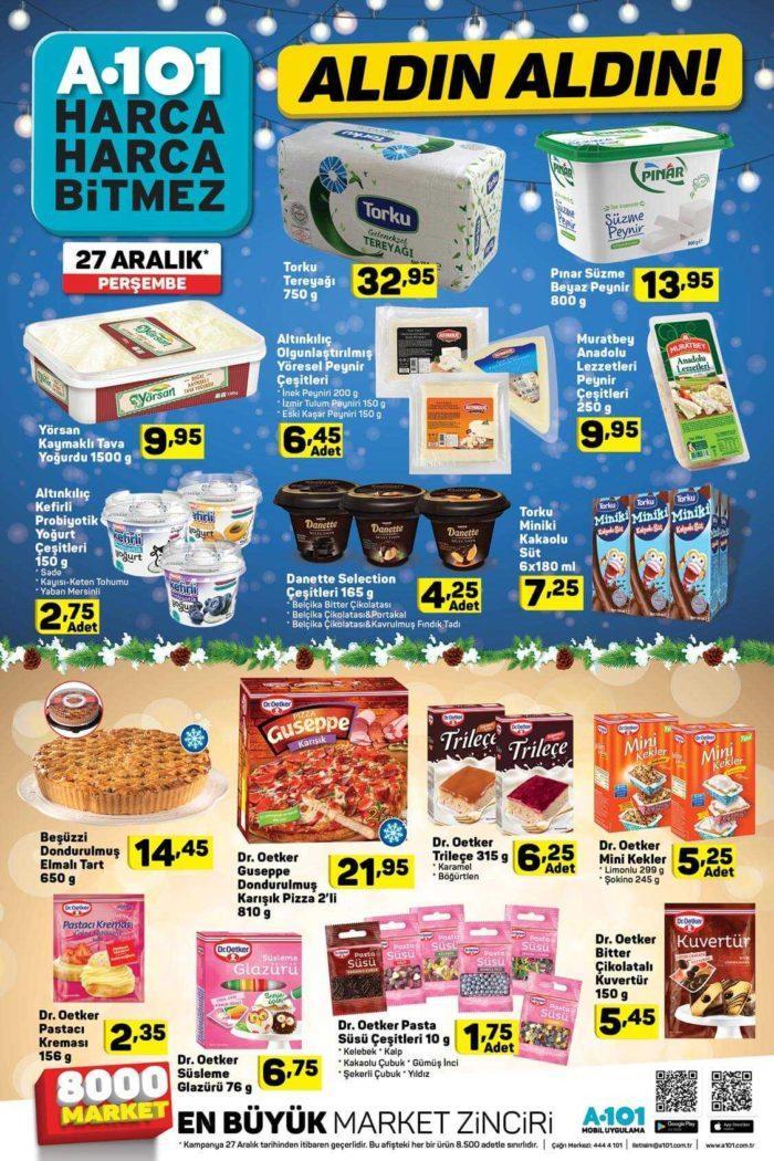 A101'de 27 Aralık'ta Hangi Ürünler İndirimde! 27 Aralık A101 Aktüel İndirimleri