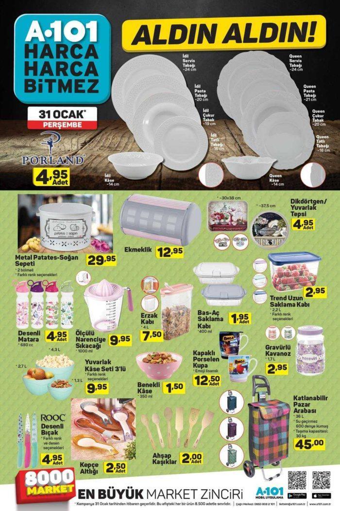 A101 31 Ocak 2019 Aktüel Ürünler Kataloğu! Bu Hafta A101'de Yok Yok