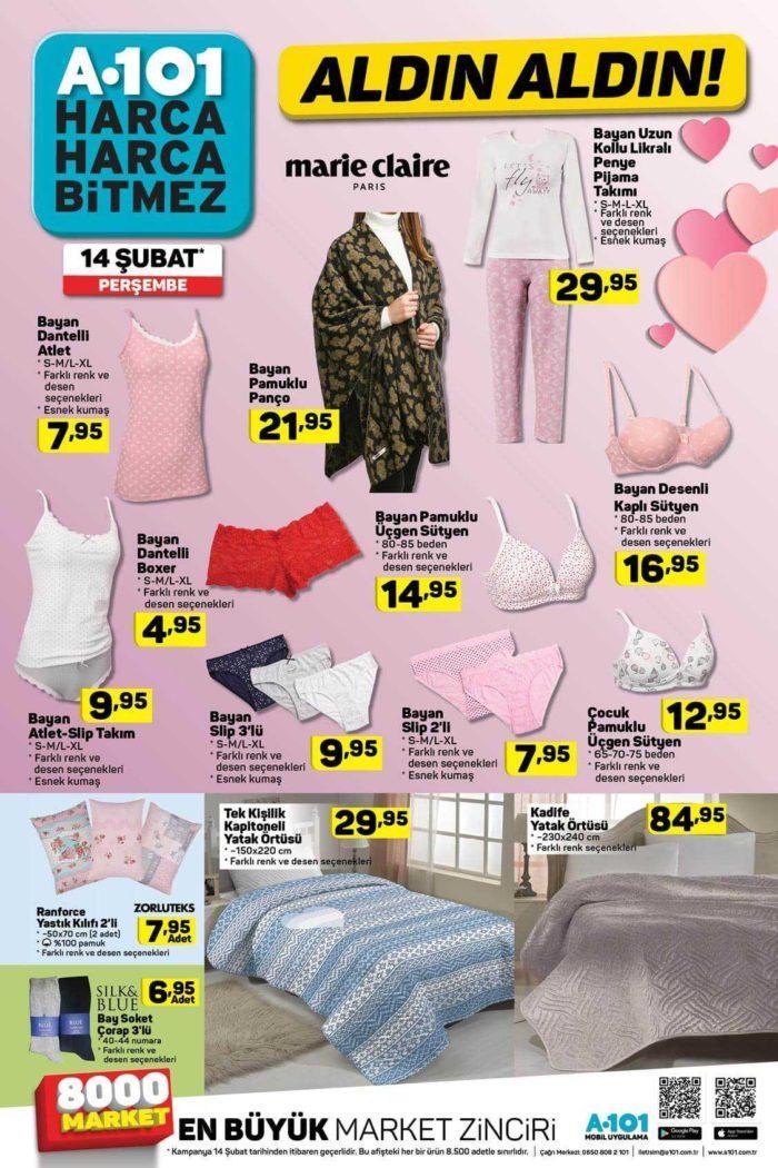 A101 14 Şubat 2019 Aktüel Ürünler Kataloğu! A101 Market Sevgililer Günü İndirimi 2019!