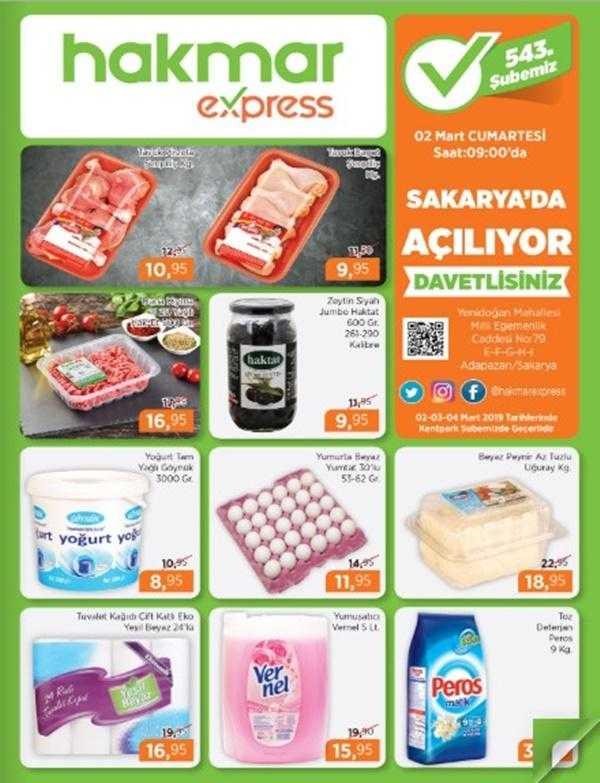 Hakmar 2 - 4 Mart 2019 Aktüel Ürünler Kataloğu! Hakmar Express Hafta Sonu Kampanyası