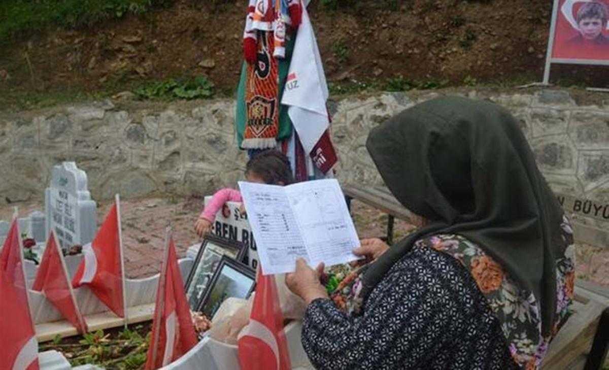 Şehit Eren Bülbül'ün Karnesi Sosyal Medyada Paylaşım Rekoru Kırdı