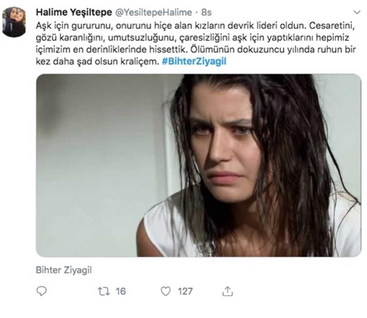Aşk-ı Memnu Hayranları 24 Haziran'da Bihter Ziyagil'i Unutmadı, Twitter'de TT Oldu
