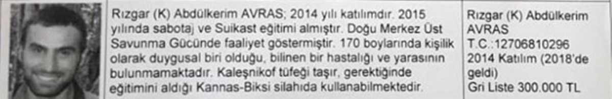 Giresun'daki Operasyonlardan Kaçan Gri Listedeki Terörist Tunceli'de Öldürüldü