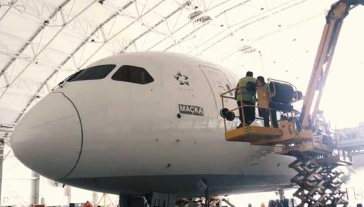 Türk Hava Yolları Şehit Eren Bülbül'ün Memleketinin Adını Verdiği Maçka Uçağının Görüntülerini Paylaştı
