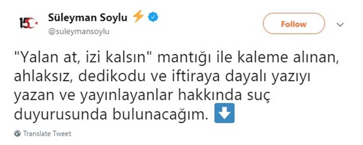 İçişleri Bakanı Süleyman Soylu mülteci iddiası karşısında küplere bindi: ahlaksız dedikodu
