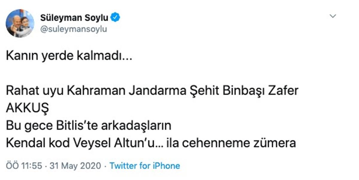 İla cehenneme zümera Türkçe anlamı ne? Süleyman Soylu paylaştı
